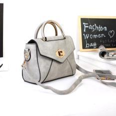 Tas Wanita Handbag Elegan 33374 Gray Import