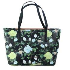 Ted Baker Womens Fashion Tote Bag Bucket Bag Handbag- Black Rose