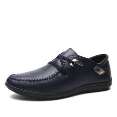 The New Fashion Men's Leather Shoes Soft And Comfortable Leisure Shoes - Intl