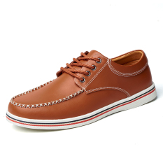 The New Men's Loafers Light Weight And Comfortable Leather Shoes - Intl
