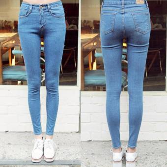 THREESIXTY Jeans / skinny jeans / biru muda - wanita
