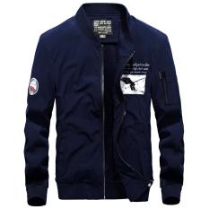 Tide merek Korea Fashion Style Slim bisbol seragam Musim Semi dan Gugur perkakas jas penerbangan jaket (Borland)