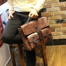 Tidog Crazy Horse Leather Crossbody Bag Leisure Large Shoulder Bag Handbag Bag Businees Bag - Intl