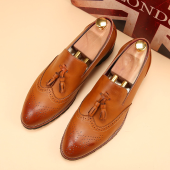 Tidog Han Edition Of England Carve Patterns Or Designs On Woodwork Men's Casual Shoes Men Wedding Shoes