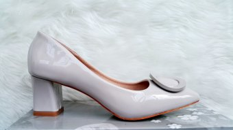 Timoti Sepatu Kerja Tumit Tahu Import 2688-5 (Abu Abu)