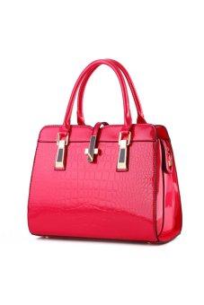 Tingyao Women Shoulder Bags Vintage Multi-purpose Handbag Large Capacity Leather Bag Red