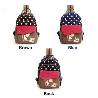 niceEshop pencetakan wanita santai tas kanvas ransel Leaper ringan bahu Bag Tas Hitam . Source ·