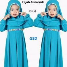 Toko Grosir Dress-Maxi Gamis Anak-Hijab Alina Kids Blue