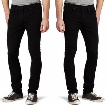 Tomswenglers Celana Jeans Pria Kualitas Premium Model Slimfit / Skinny Warna Hitam