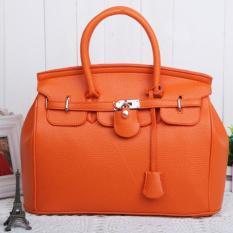Top-Handle Bags Fashion Super Star Handbag Women Shoulder Handbags Bags Ladies Messenger PU Leather Bag (Orange)
