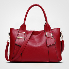 Top-Handle Bags Soft PU Women Bag Ladies Leather Handbags Tote Purse Women Handbag Sac Femme Designer Handbags High Quality (Red)