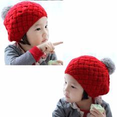 Topi Bayi Nanas - Merah / Pineapple Hat Red Topi Anak Rajut Kupluk Korea Baby Talk - Pienapple Hat - Topi Rajut Motif Nanas Untuk Bayi Balita dan Anak Lucu Import