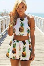 Toprank 2 Piece Set Women Dress Tropical Plus Size Women Clothing Short Backless Bodycon Casual Mini Dress
