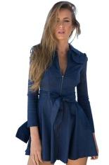 Toprank 2016 Autumn Winter Women Casual Long Windbreaker Zipper Outwear Coat Long Sleeve Trench Coat For Women With Belt