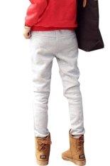 Toprank Autumn Winter Korea Women's Sports Pants / Trousers Drawstring Waist Leisure Thick Long Harem Pants (Grey)