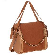 Toprank Fashion Korean Women Tote Clutch Handbag Shoulder Bag Messenger Cross Bag Synthetic Leather Satchel (Blue) - Intl