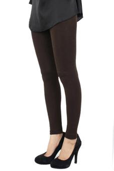 Toprank memilih perempuan langsing musim dingin yang hangat dan tebal tanpa kaki celana legging peregangan (