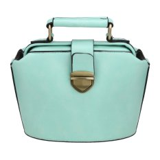 Toprank New Fashion Women Synthetic Leather Vintage Style Handbag Shoulder Bag (Green) - Intl