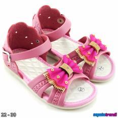TrendiShoes Sandal Anak Perempuan Variasi Pita KX06 - Pink