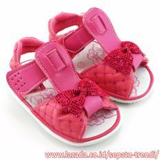 TrendiShoes Sandal Bunyi Anak Bayi Perempuan Pita - Fuchsia