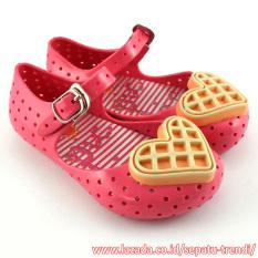 TrendiShoes Sepatu Anak Jelly Shoes Anak Waffle - Fuchsia