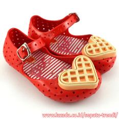TrendiShoes Sepatu Anak Jelly Shoes Anak Waffle - Merah