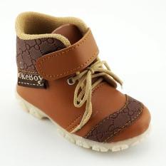 TrendiShoes Sepatu Boot Anak Bayi Laki-Laki OkeBoy DDOKB - Tan