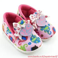 TrendiShoes Sepatu Bunyi Slip On I Love You Motif Elephant - Pink