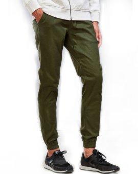 Trust Denim Jogger Pants Unisex - Olive