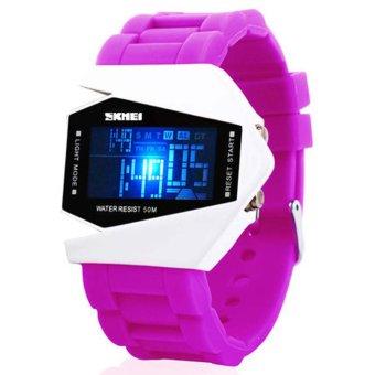 Twinklenorth Men's Purple Red Silicone Strap Watch K987Q-23