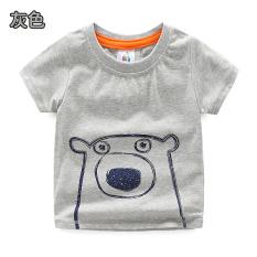 Tx-8280 kartun bayi lengan pendek t-shirt (Abu-abu)