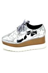 TYNX06 Platform Shoes Female Stars (White) (Intl)
