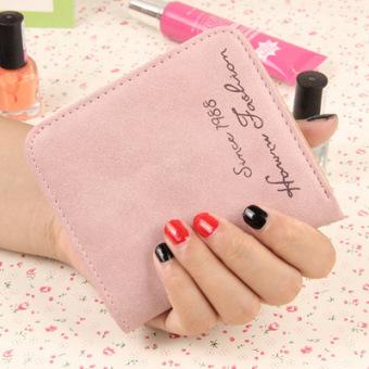 Ultra-tipis mini kecil nol dompet lulur dompet (Merah muda)