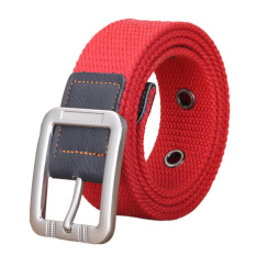 Unisex Casual Canvas Belt Web Belt Woven Belt With Needle Buckle For Jeans 100cm 39inch- Intl