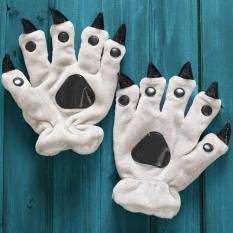 Unisex Cute Animal Paw Gloves (Grey) - Intl