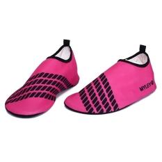 Unisex Sandals Skin Shoes Yoga Gym Sport Socks Skin Shoes Aqua Water (Red) (Intl)