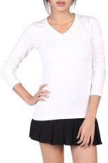 V-Neck Fitted Plain T-Shirt (White)