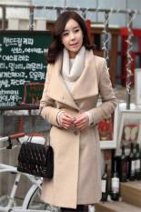 Vanker Women's Worsted Coat Long Sleeve Tweed Winter Coat