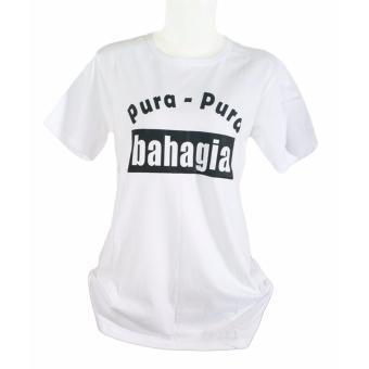 ... Putih Source · Vanwin Tumblr Tee Kaos Cewek T Shirt Wanita Pura pura Bahagia