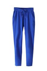 Velishy Women Pants Chiffon Pants (Dark Blue)