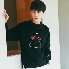 Versi Korea dari bordir baru sweater remaja (Hitam)
