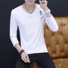 Versi Korea dari katun lengan pendek remaja t-shirt (539 putih)