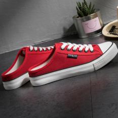 Versi Korea dari pedal sepatu malas (Merah)