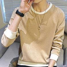 Versi Korea dari sweater pullover sweater remaja (Khaki)