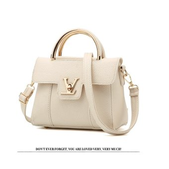 Vicria Tas Branded Wanita - Women Korean Elegant Bag Style High Quality PU Leather - Beige