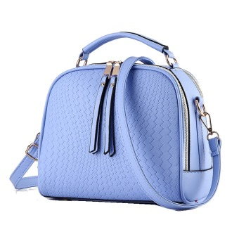 Vicria Tas Branded Wanita - Women Korean Elegant Bag Style High Quality PU Leather - Biru
