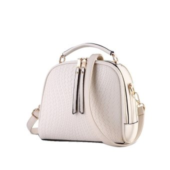 Vicria Tas Branded Wanita - Women Korean Elegant Bag Style High Quality PU Leather - Putih
