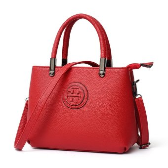Vicria Tas Branded Wanita - Women Office Korean Elegant Bag Style High Quality PU Leather - Merah