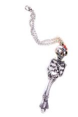 Vintage Hot Rock Gothic Punk Double Skeleton Skull Bangle Bracelet Silver