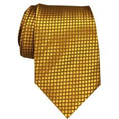 VM Dasi Fashion Slim Polos Kotak Halus Emas - Slim Ties Gold